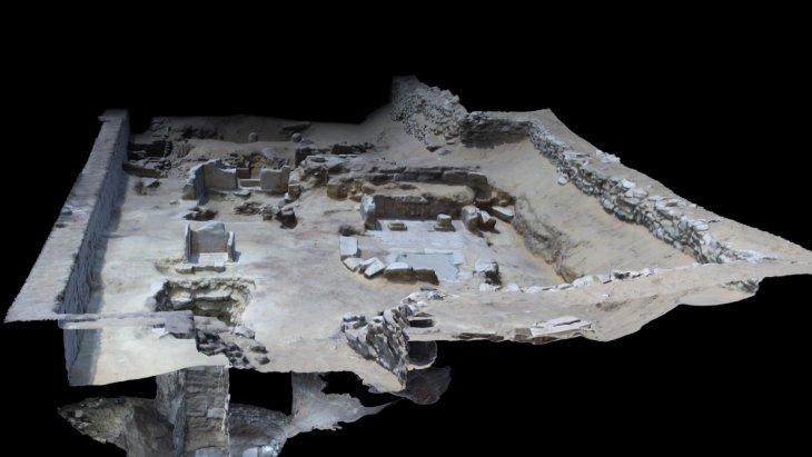 ricostruzione in 3D attraverso fotogrammetria dello scavo archeologico di saqqara