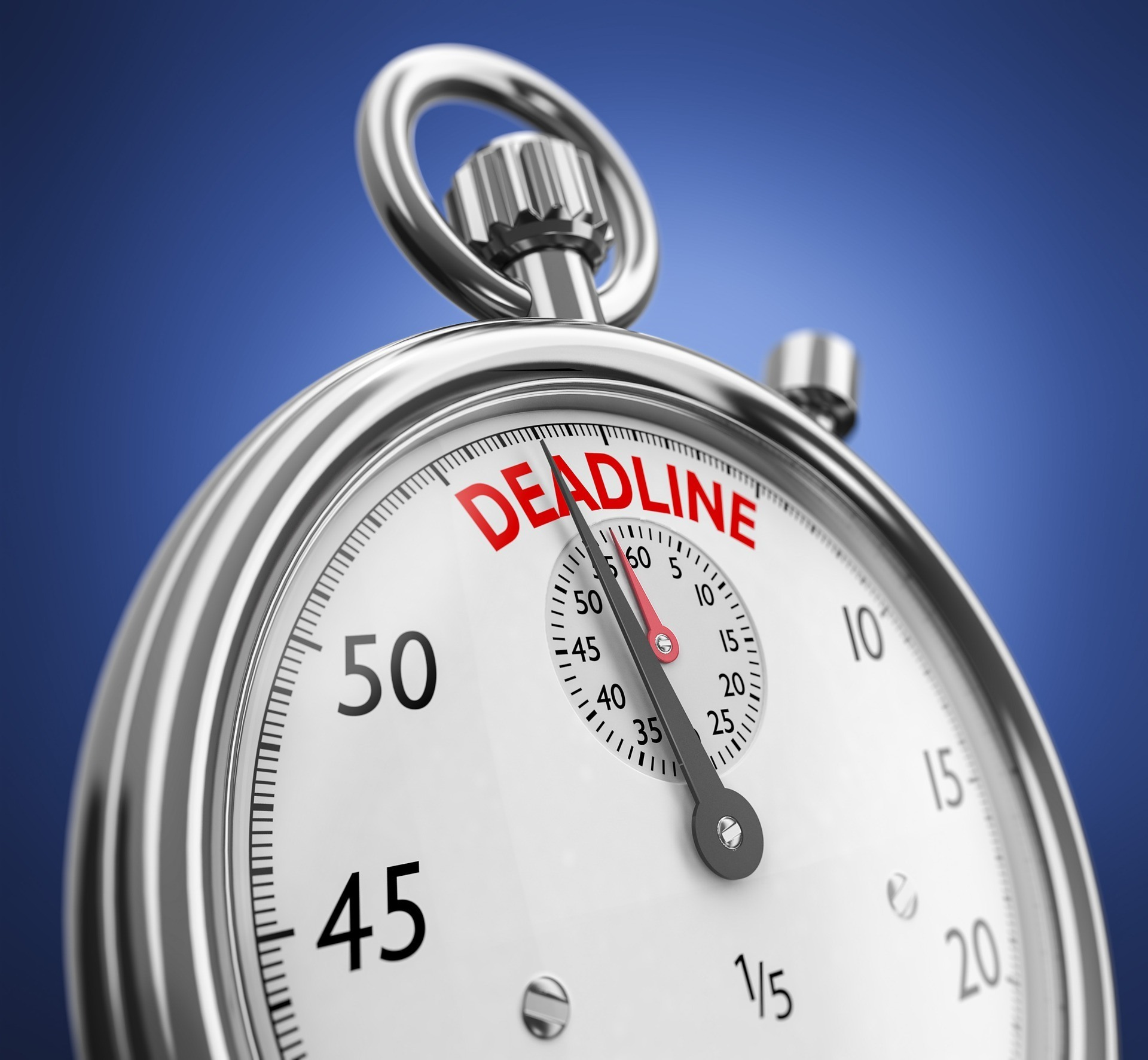 goal setting mistake 4- not setting a deadline