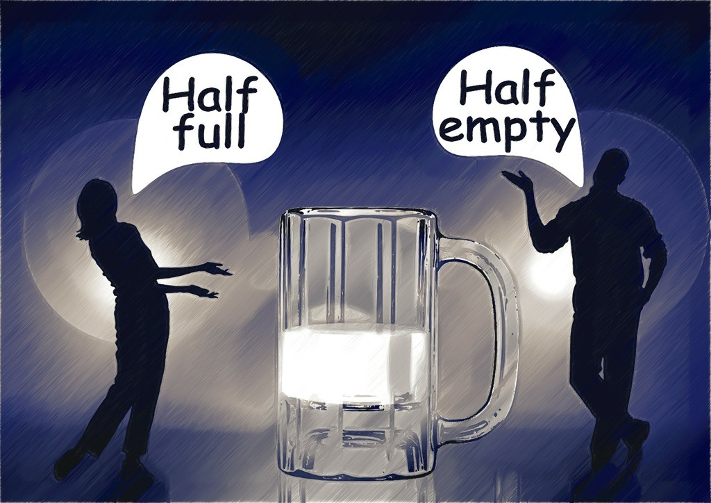 success mindset: half-full or half empty