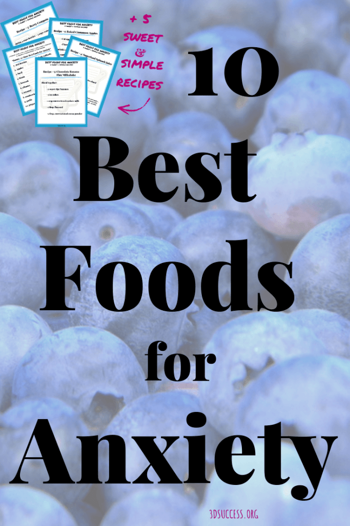 Best Foods for Anxiety Pin