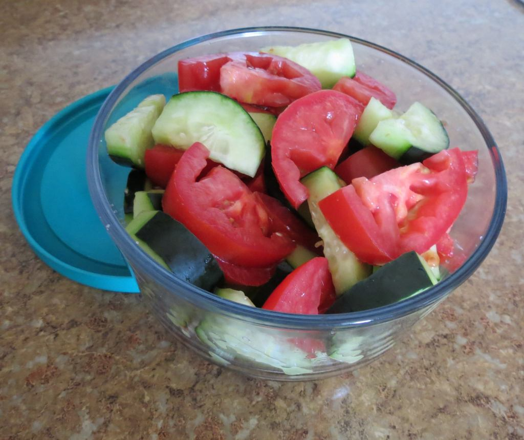 cucumber tomato salad apple cider vinegar lowers anxiety