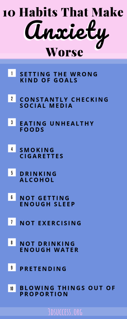 Habits that Make Anxiety Worse Infographic