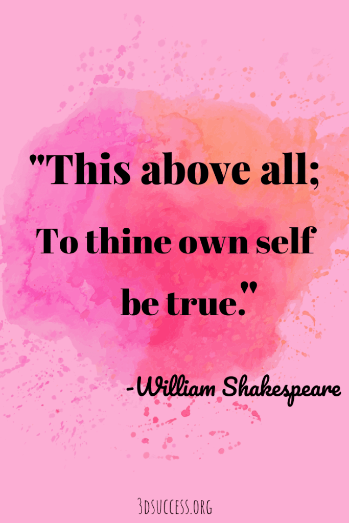 Be True to Yourself- Inspirational Quote about life Shakespeare