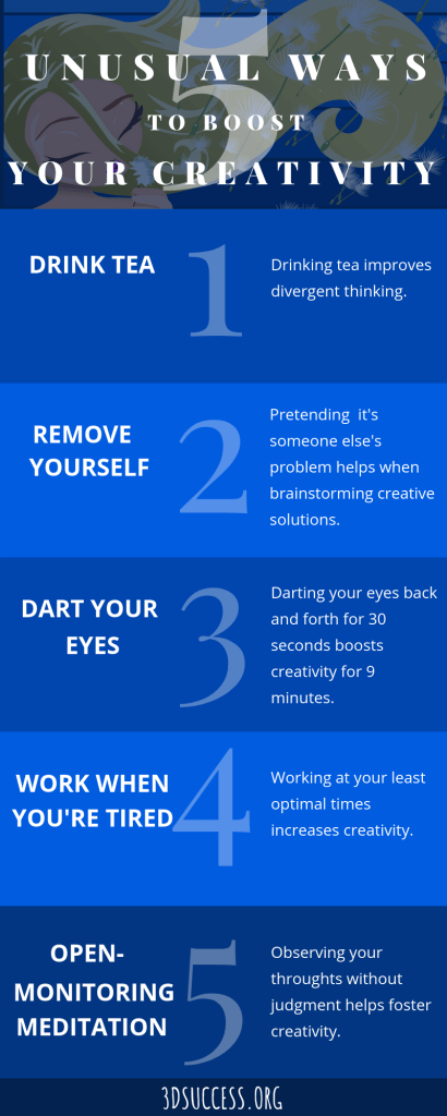 5 Unusual Ways to Be More Creative Infographic Pin