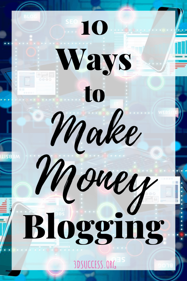 10 Ways to Make Money Blogging pin