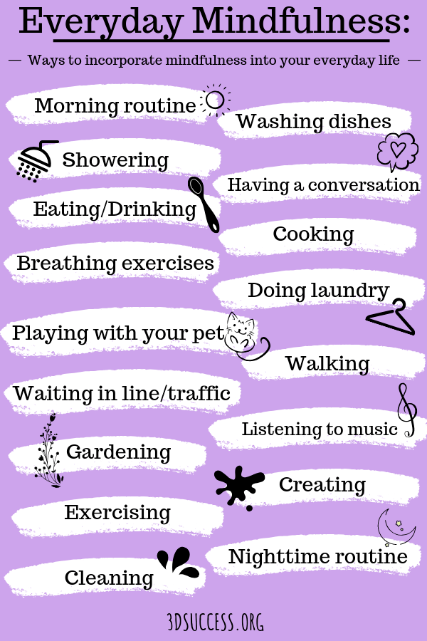 Ways to Be Mindful Pin