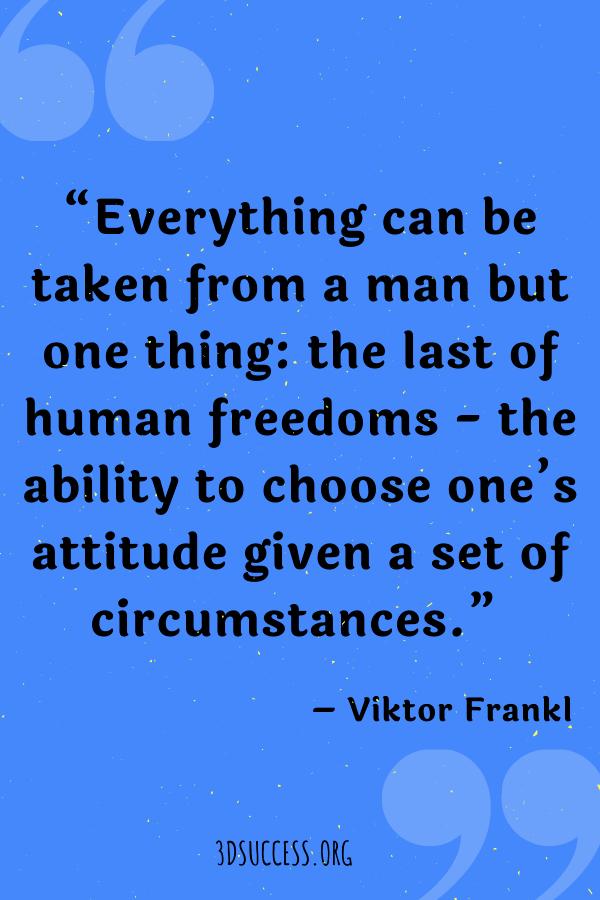 Attitude Frankl Quote Pin