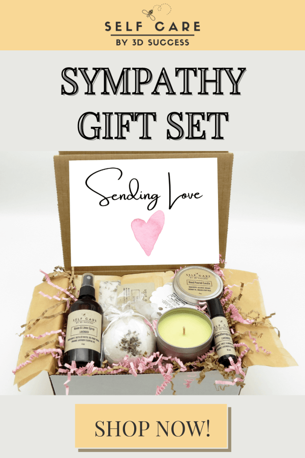 Sympathy gift set for grieving friend dealing with the loss of a loved one