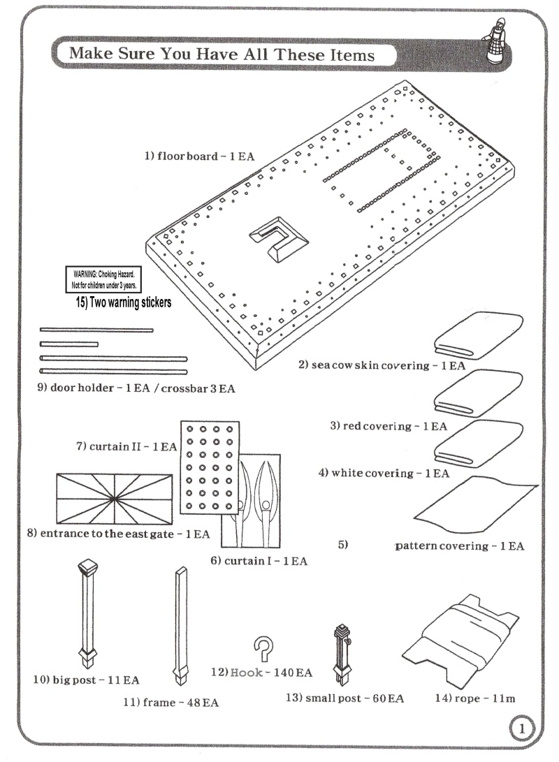 Tabernacle Instructions: Kit Parts