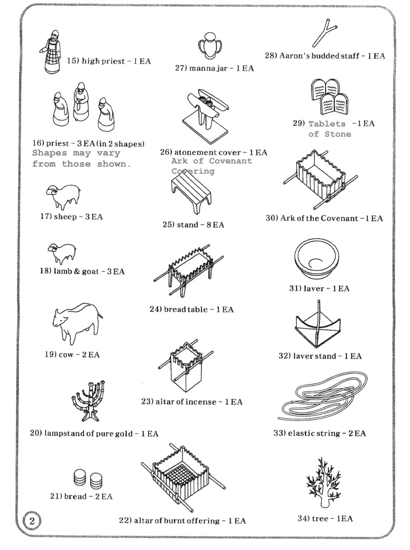 Tabernacle Instructions: Kit Parts Continued