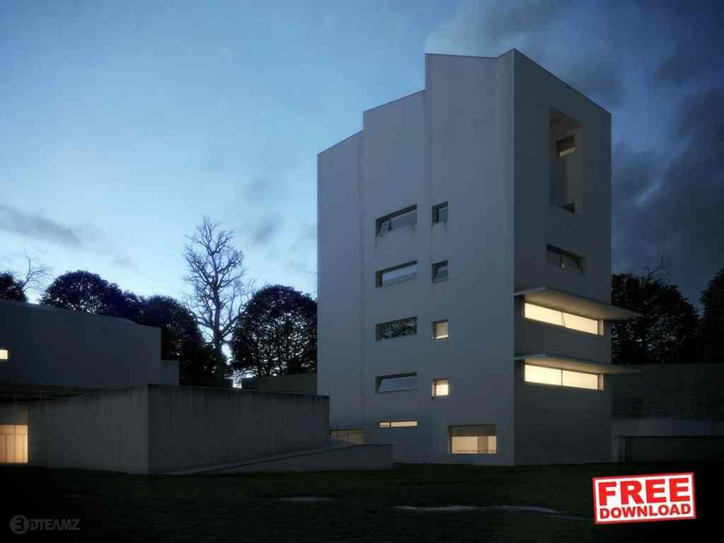 Free Jacinto FAUP 3D Exterior Scene