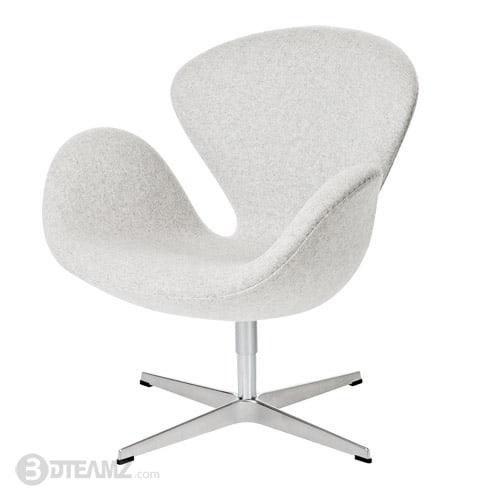 Terrific Fritz Hansen Swan White Chair 3D Model Machost Co Dining Chair Design Ideas Machostcouk