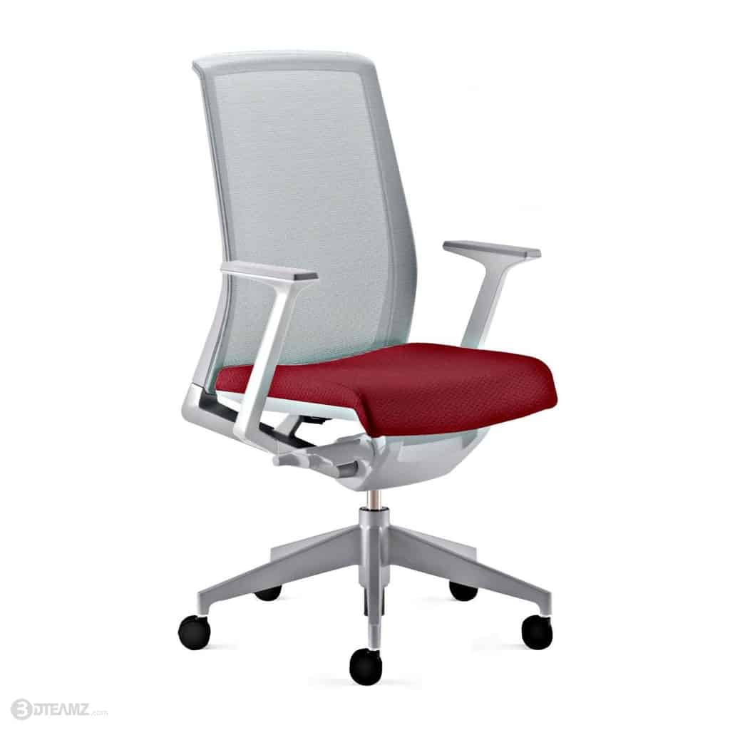 Haworth Very Task Chair Red Seat 3D Model