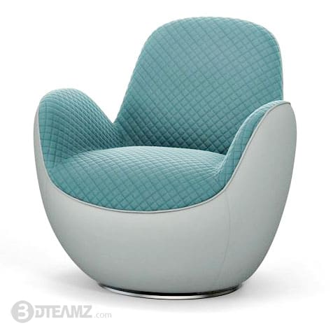 Peachy Roche Bobois Aircell Fauteuil Green Chair 3D Model Bralicious Painted Fabric Chair Ideas Braliciousco