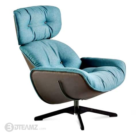 Astounding Roche Bobois Quite Life 2 Relax Armchair 3D Model Bralicious Painted Fabric Chair Ideas Braliciousco