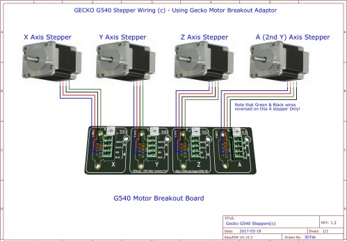 small resolution of stepper motor connections c g540 motor connector board method
