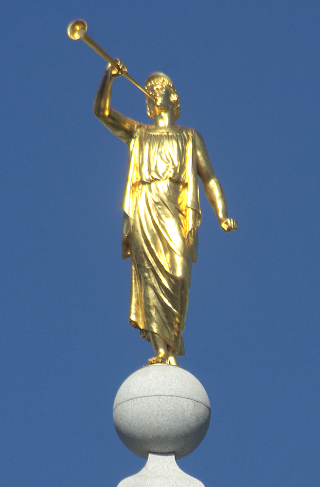 Cyrus Dallin's Angel Moroni, Salt Lake Temple (Photogent.com)