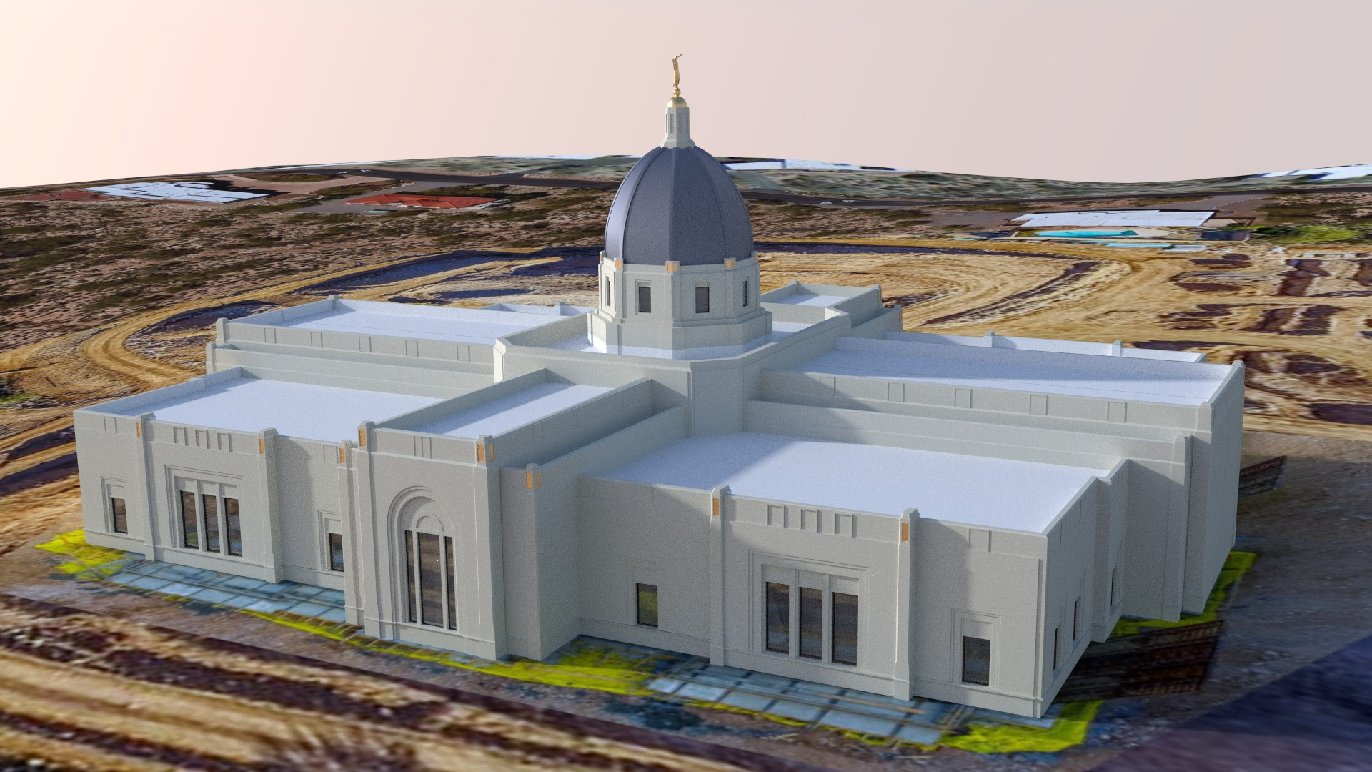 Tucson Arizona Temple render update