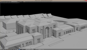 Paris France Temple Clay Render