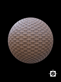 free pbr seamless wood wicker texture