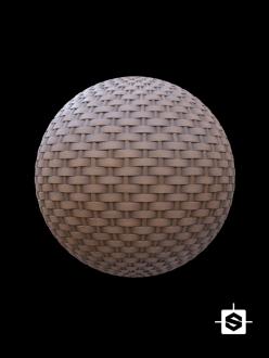 free pbr seamless wood wicker texture