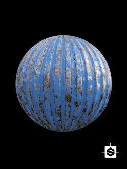 free seamless pbr metal corrugated texture