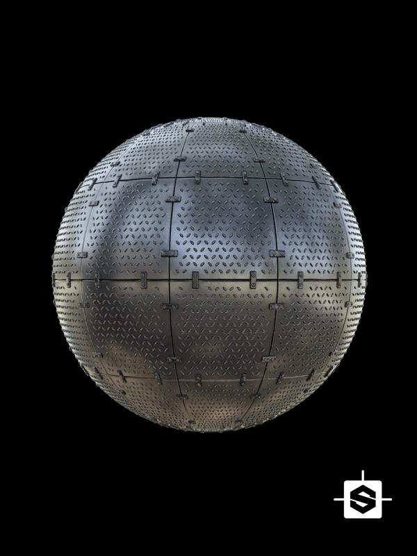 free seamless pbr sci-fi metal plate texture