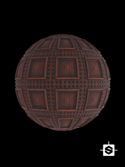 free seamless pbr wood pattern coffers texture door medieval