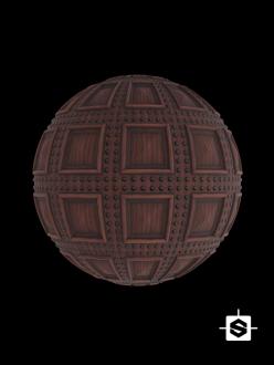 free seamless pbr wood pattern coffers texture door medieval