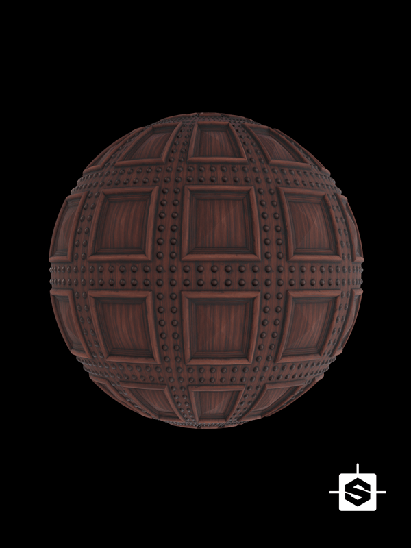 free seamless pbr wood pattern coffers texture