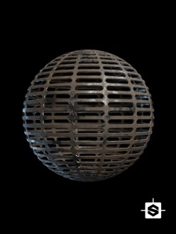 free seamless pbr metal grill texture rusted floor