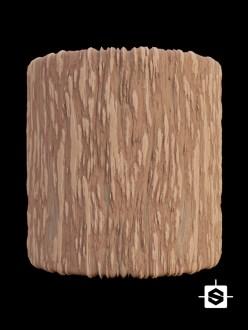 bark tree wood forest stylized