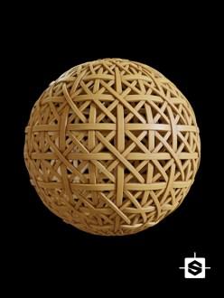 wood wicker weave basket furniture