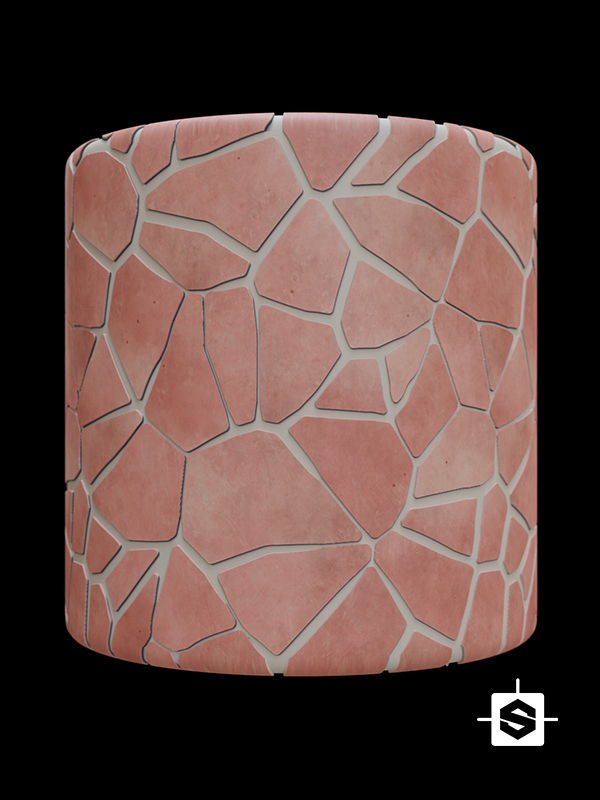 stylized stone floor rock terracotta ceramic ground toon
