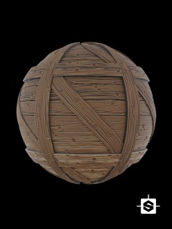 stylized crate wood