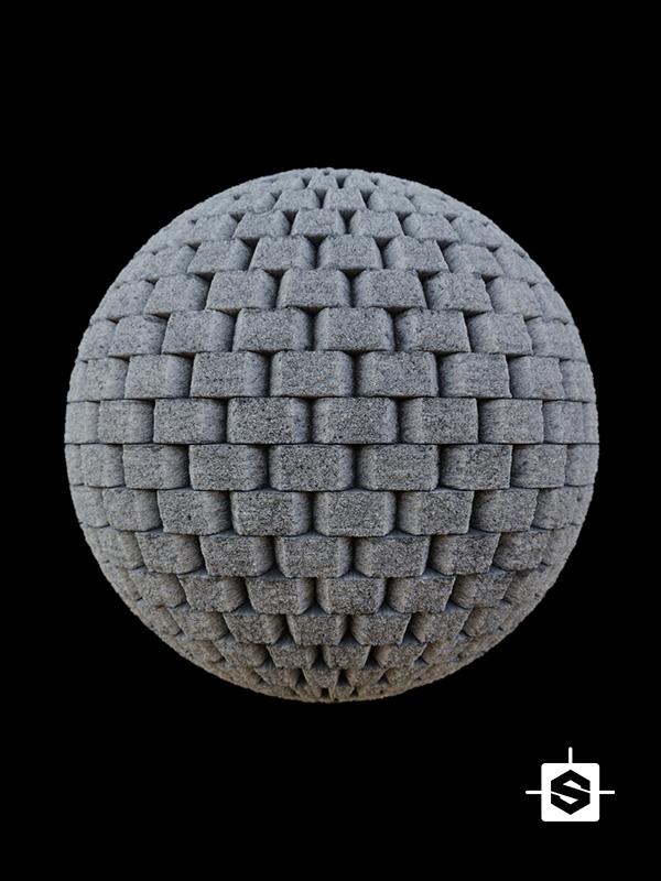 concrete blocks wall cement