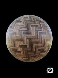 wood herringbone tiles floor