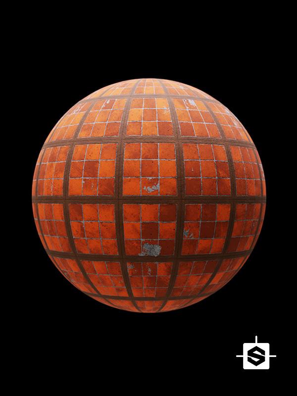 tiles terracotta ground