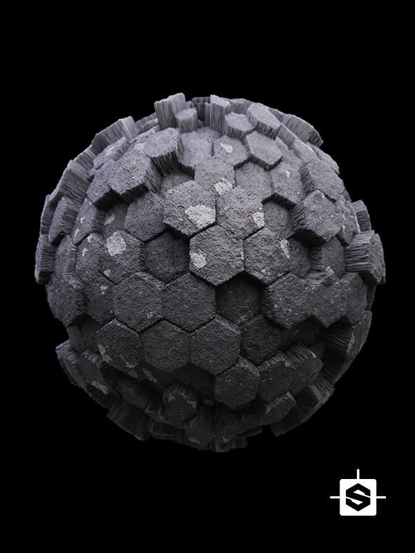 rocks stone hexagon ground