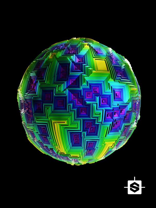 abstract metal crystal