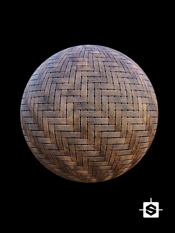 wood wicker weave