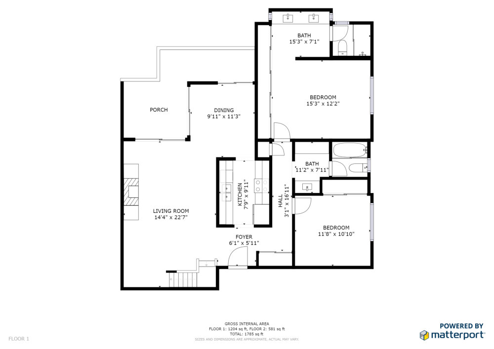 medium resolution of listed by redfin 1963 rock st unit 26 mountain view schematic floor plan floor 1