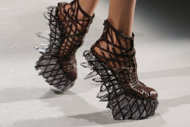 Iris Van Herpen 3D printed shoes