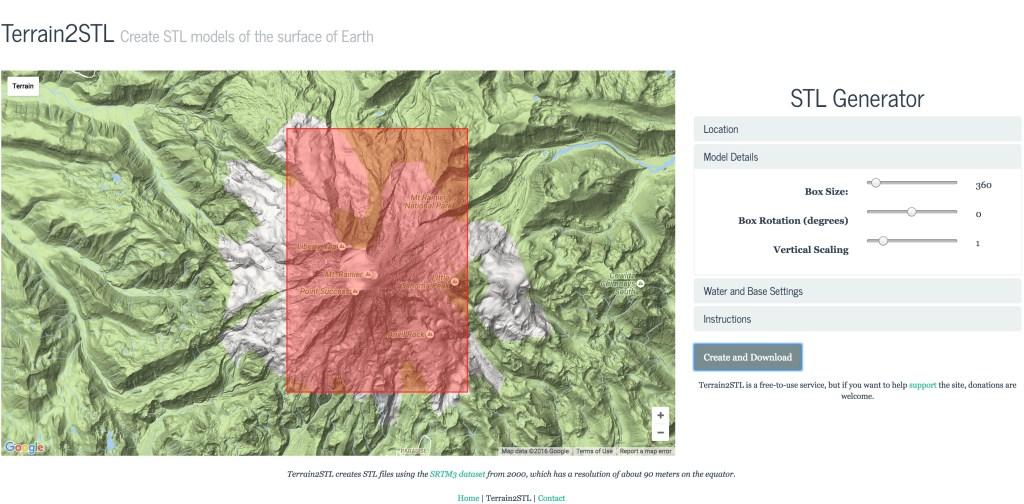 3D Print Accurate Terrain Models