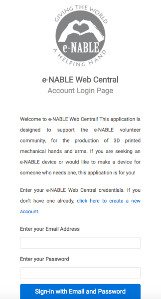 e-NABLE Web Central