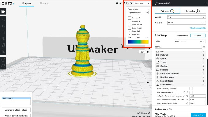 Ultimaker Cura Adaptive Layer