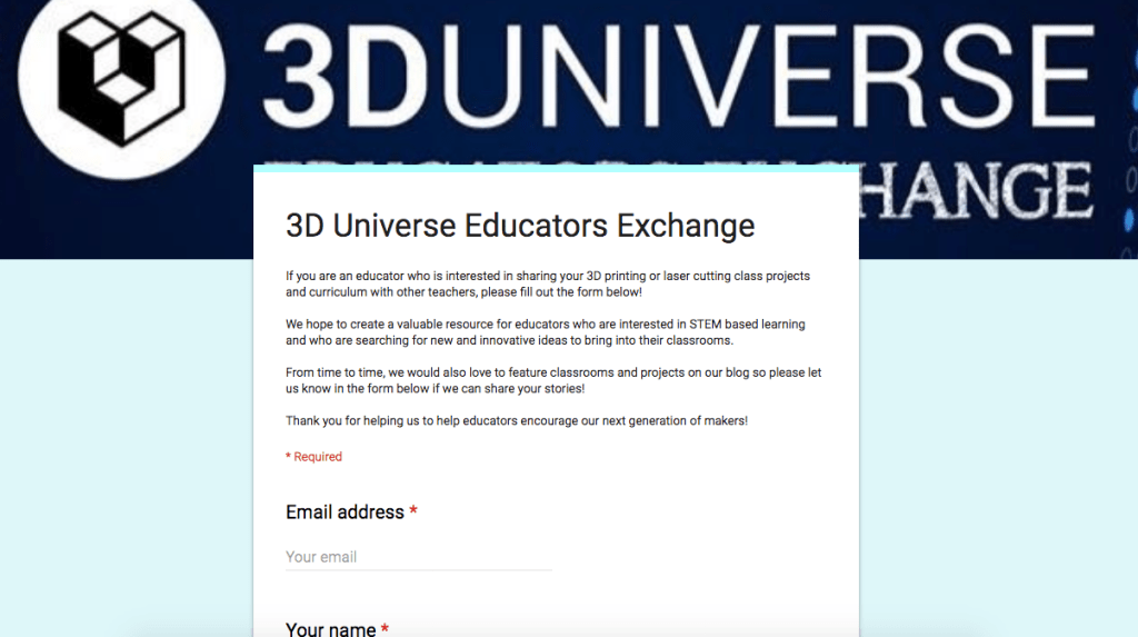 3D printer resources for education