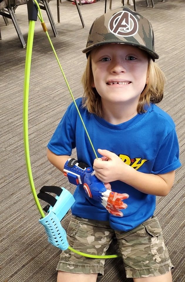 A 3D printed bow holder design for limb different children and adults who want to do archery