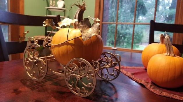 Laser Cut Pumpkin carriage design