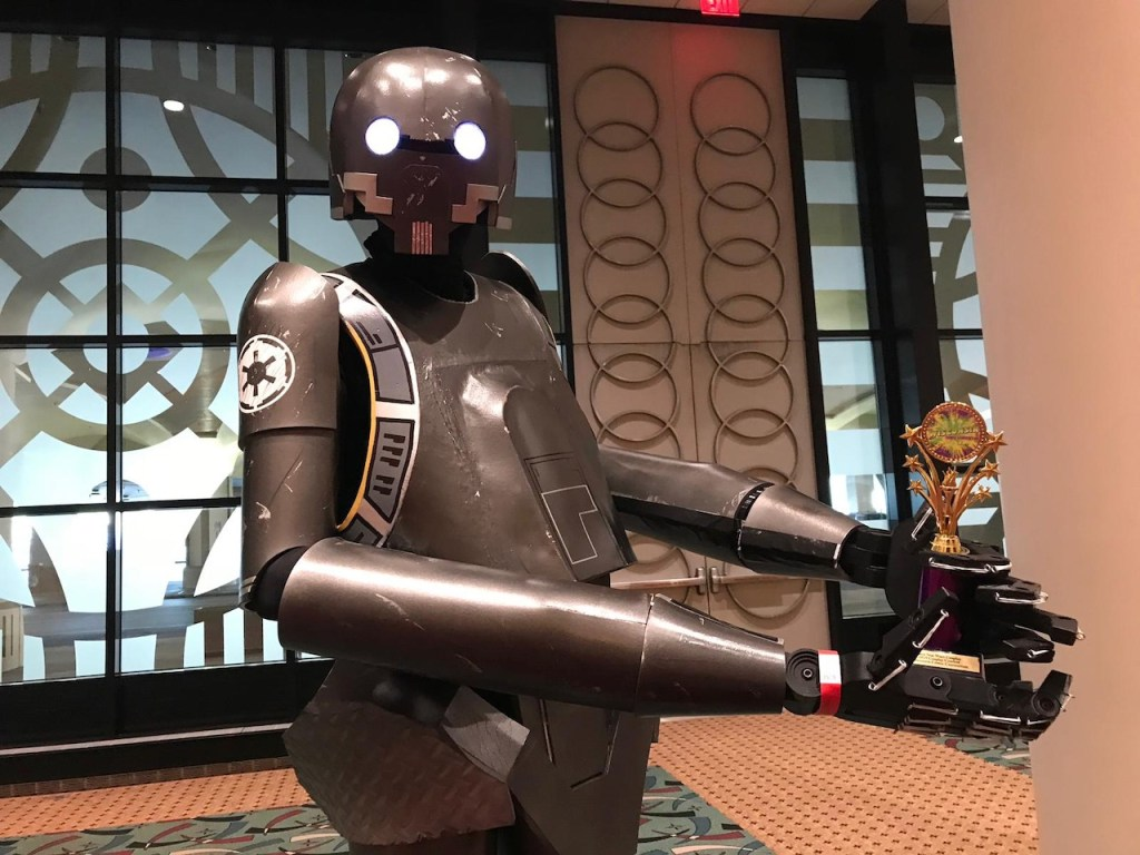 Dave Lysen with his Star Wars K-2SO costume